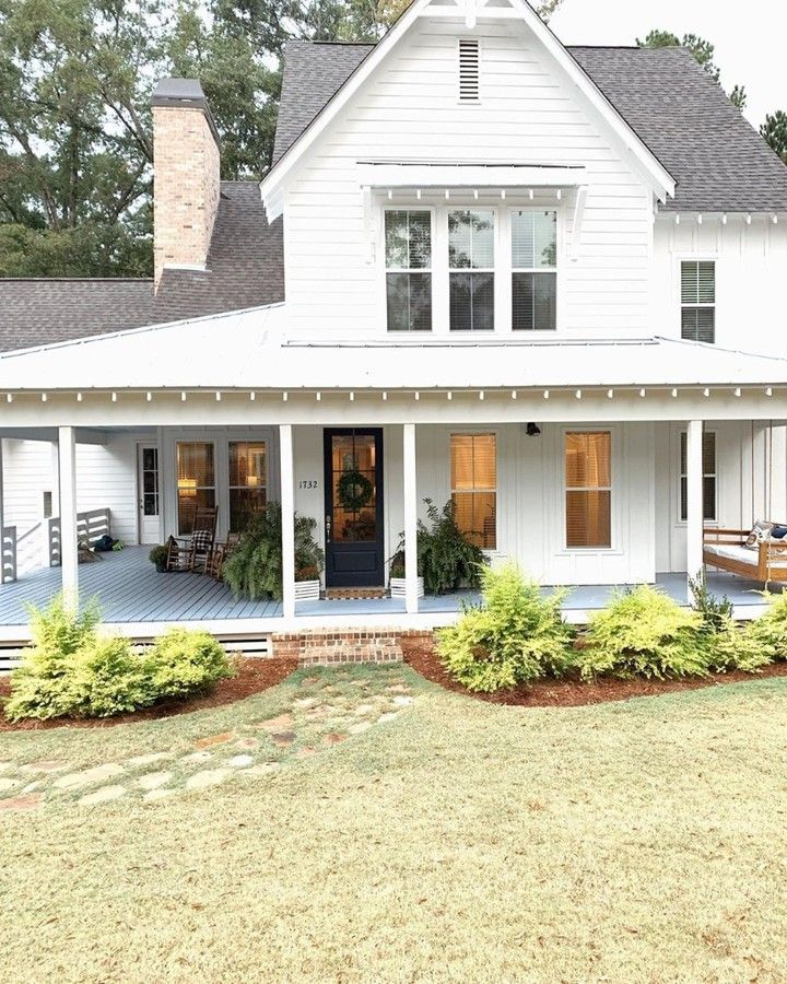 Farmhouse Is My Style On Instagram This Second Week Of Our Holidays Will Be All About Gettin Porch House Plans Wraparound Porch House Plans Dream House Plans