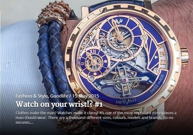 Watch on your wrist