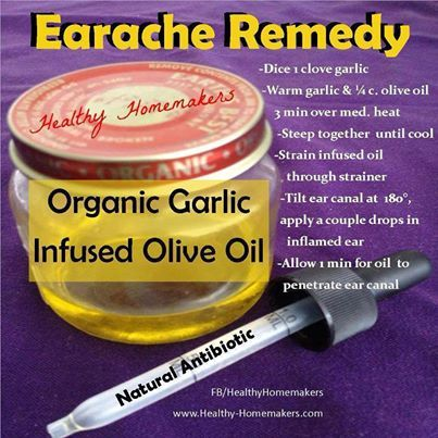 Got an earache? Looking for a natural home remedy? Try this one!