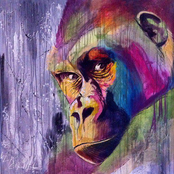 Gorilla - coole Farben