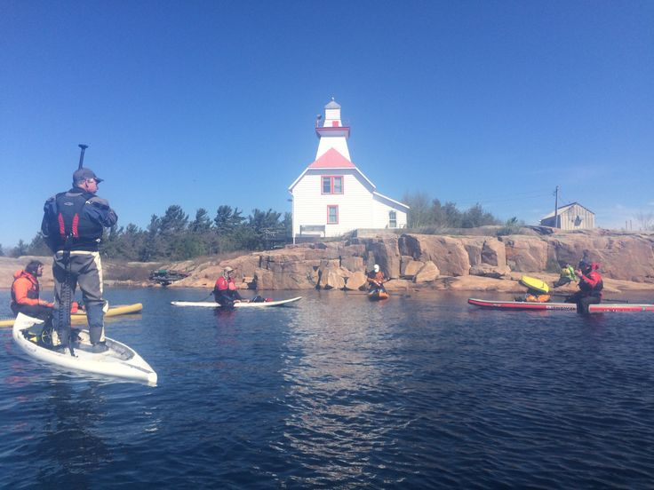 Snug Harbour, Georgian Bay, ON - Participating in Paddle Canada's SUP Touring course - May 2015. Adding a safer and greater instructional component to our SUP overnight itineraries.