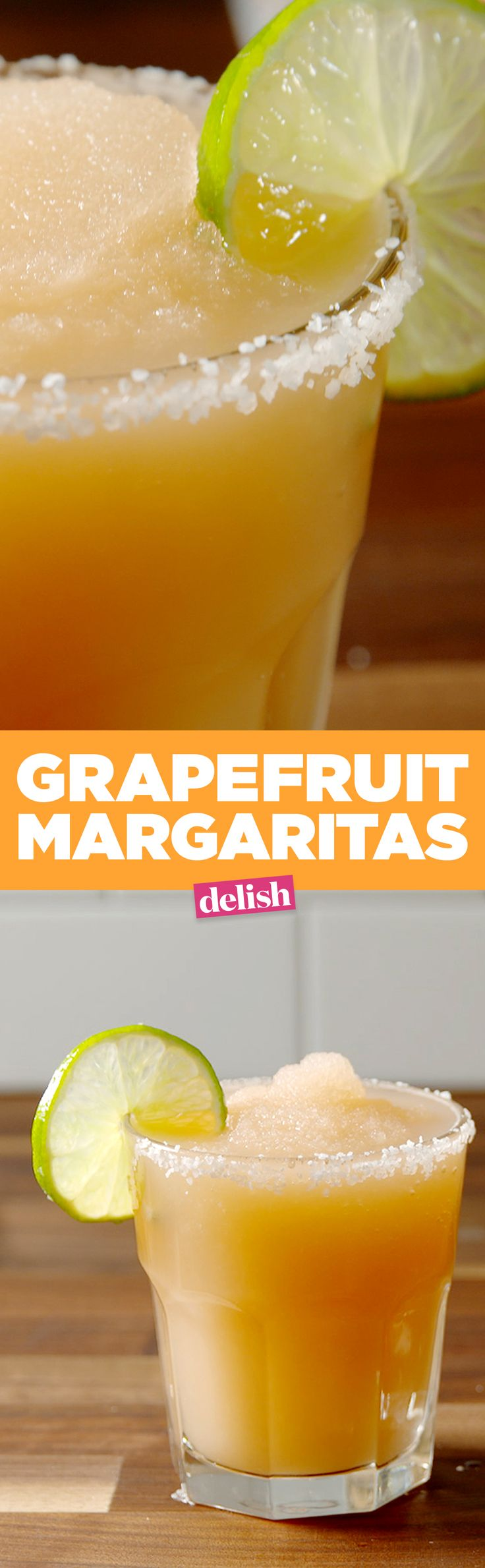 Grapefruit Margaritas tastes like a beach vacay you desperately need right now. Get the recipe from Delish.com.