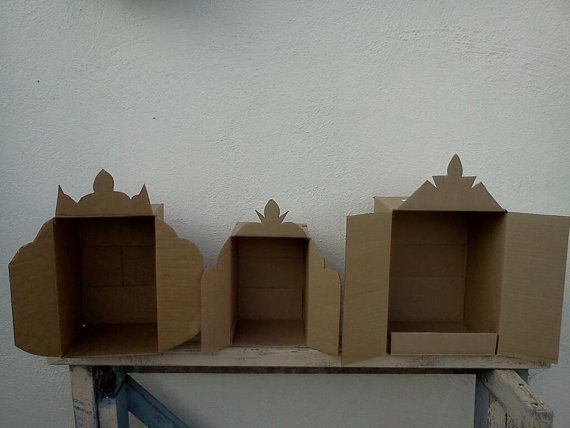 Use cardboard boxes to make little altars. Paint and decorate as you like.