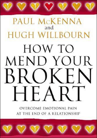 """Ένα συγκλονιστικό βιβλίο αυτοβελτίωσης για όσους έχουν ραγισμένη καρδιά. """"How to mend your broken heart"""" του υπνωτιστή Πωλ ΜακΚέννα και του ψυχοθεραπευτή Χιού Γουΐλμπουρν (εκδόσεις Three Rivers Press). Οι συγγραφείς μας παραθέτουν μια σειρά από τεχνικές που μας βοηθούν να αλλάξουμε τις εικόνες και τα λόγια που λέμε στον εαυτό μας μετά το γεγονός του χωρισμού, ώστε να μειώσουμε τον αφόρητο πόνο και να βγούμε σύντομα από το πένθος."""