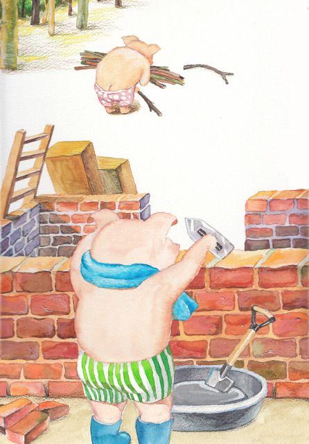 건축가 돼지(수채과슈,색연필)