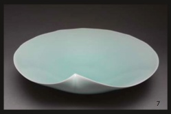 "LOW BOWL FUKAMI SUEHARU 4 1/4"" x 14 3/4"" Seihakuji Glazed Porcelain"