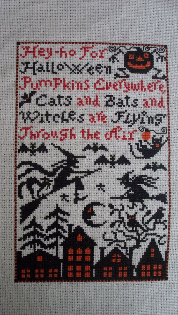 The 25 best thanksgiving crossword puzzle ideas on pinterest finished cross stitch pieces 71189 finished cross stitch hey ho for halloween robcynllc Choice Image