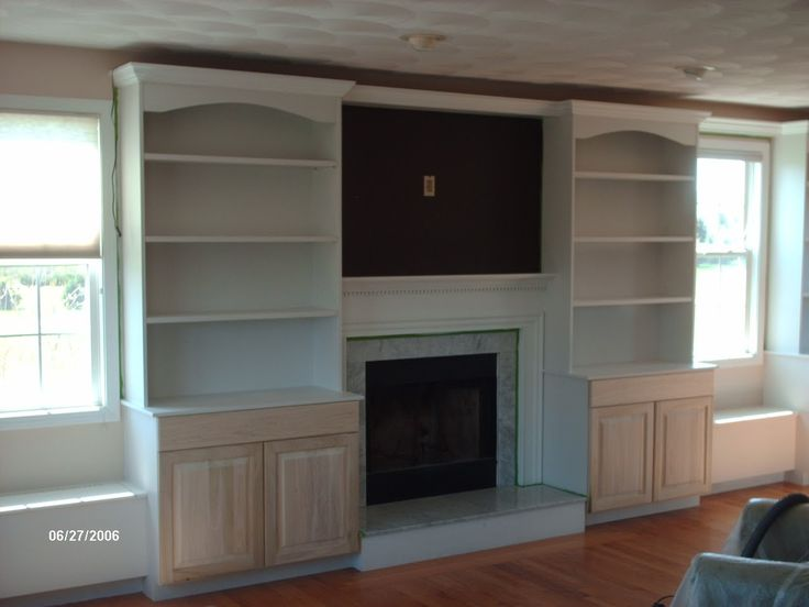 Built In Bookcases Around Fireplace | ... Cabinetry U0026 Interiors: Custom  Bookcases And Home Theater Cabinets | Craft Ideas | Pinterest | Family Room  Walls, ...