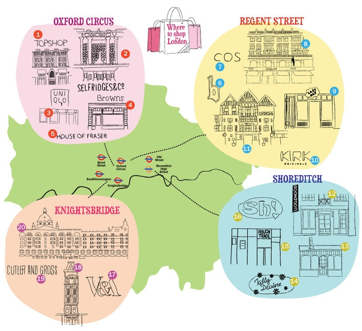 Best shops in London – Map of London shops – Time Out London