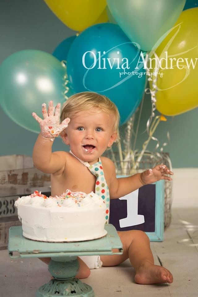 1st birthday boy rowen cake smash super cute baby