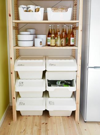 SORTERA afvalbak met deksel   #IKEA #DagRommel #recyclen #recycling #afval #prullenbak