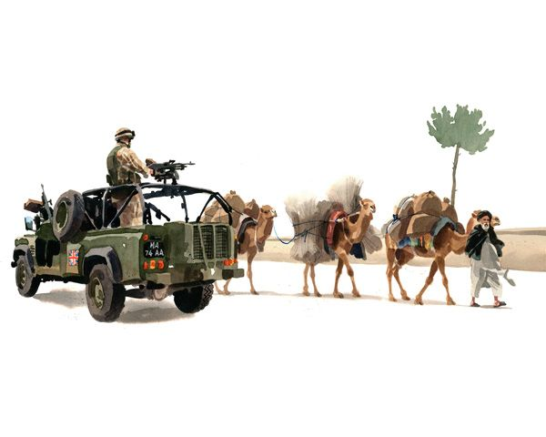Camels, Helmand, 2006 by Matthew Cook