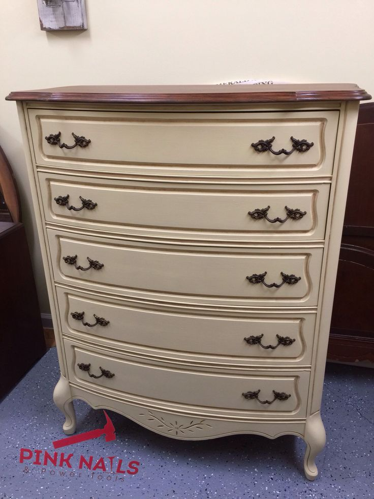 Finished The Curvy Dresser In Annie Sloan Cream With A