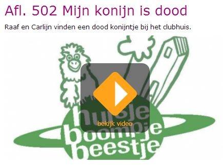 """Huisje, boompje, beestje - Afl. 502: """"Mijn konijn is dood"""". http://www.schooltv.nl/docent/project/1556307/huisje-boompje-beestje/3469227/extra-informatie-bij-de-aflevering/"""