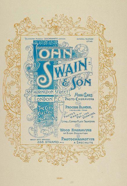 1897 print ad john swain son engravers art nouveau street art. Black Bedroom Furniture Sets. Home Design Ideas