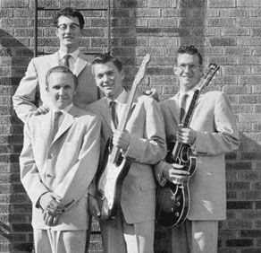 "The Crickets are a rock and roll band from Lubbock, Texas, formed by singer/songwriter Buddy Holly in the 1950s. Their first hit record was ""That'll Be the Day"", released in 1957. Wikipedia Songs: That'll Be The Day, Everyday, Not Fade Away, Oh, Boy!. Lead singers: Buddy Holly (1957–1959), Earl Sinks (1958–). 2012 induction into the Rock and Roll Hall of Fame"