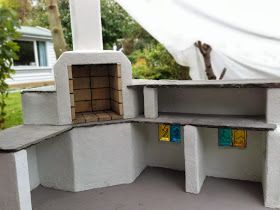 Make fireplace / grill with Leca