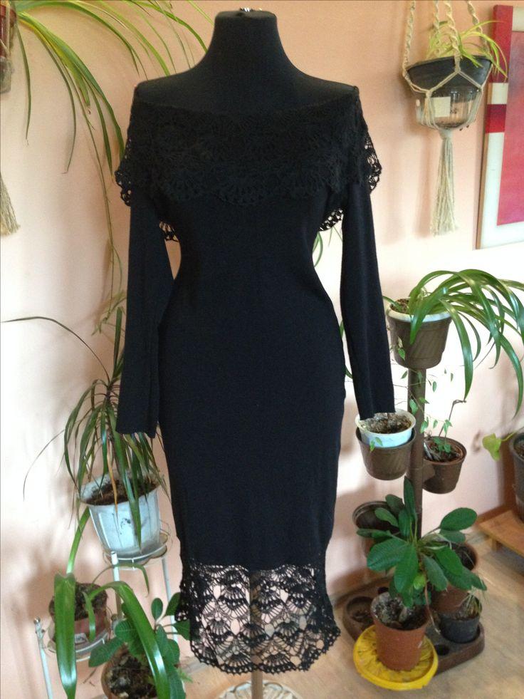 Платье с ажурном. Красивое платье