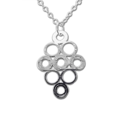 CS224 - Elas jewellery box - Sterling silver pendant hand formed and textured.