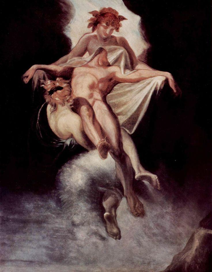 Иоганн Генрих Фюссли. Сон и Смерть несущие тело Сарпедона. 1803. Цюрих. Haus zum Rechberg