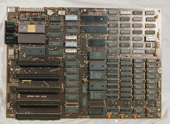 The original IBM 5150 motherboard from the first PC  8088 CPU