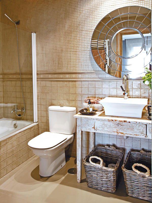 #Baño decorado con estilo #rústico