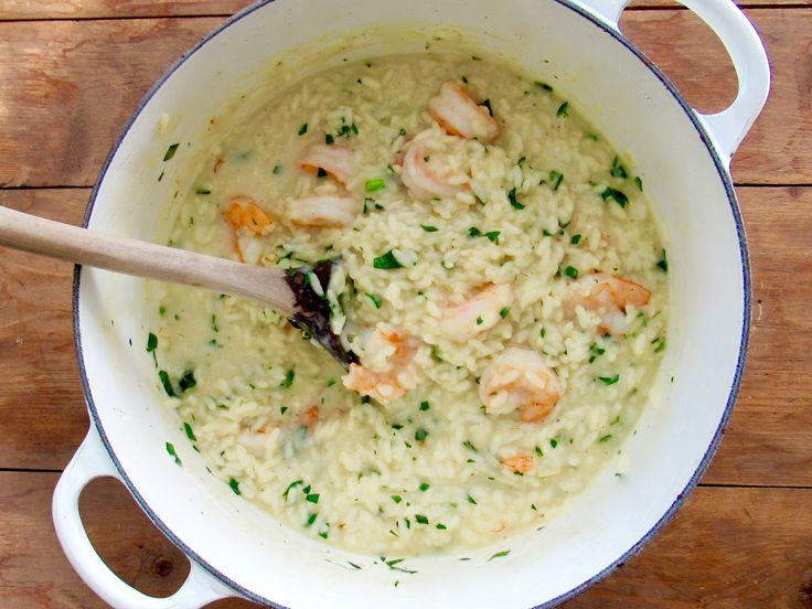 Risotto: The Basic Technique : Here are the basic steps for making risotto, and following is a recipe for Shrimp Risotto with specific measurements and steps. Read through the technique, then read through the recipe, then get cooking. Once you get this first risotto recipe under your belt, you will be able to tackle any risotto recipe that piques your fancy, or even improvise your own risotto in a galaxy not too far away. Pinkie promise.