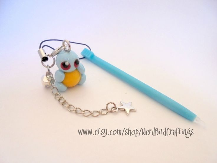 Pokemon Squirtle Themed Stylus - 3DS 3DSXL DS DS Lite
