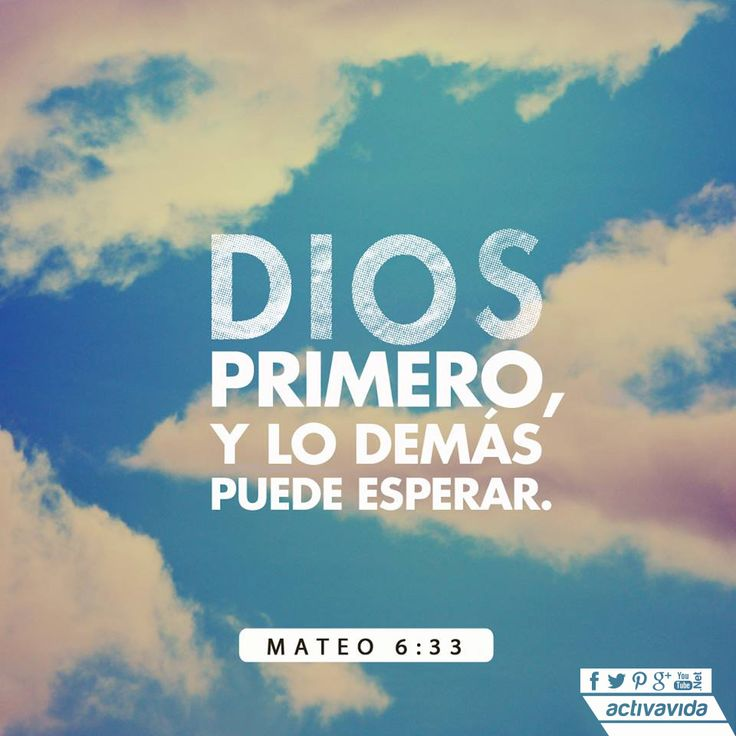«Busquen el reino de Dios por encima de todo lo demás y lleven una vida justa, y…