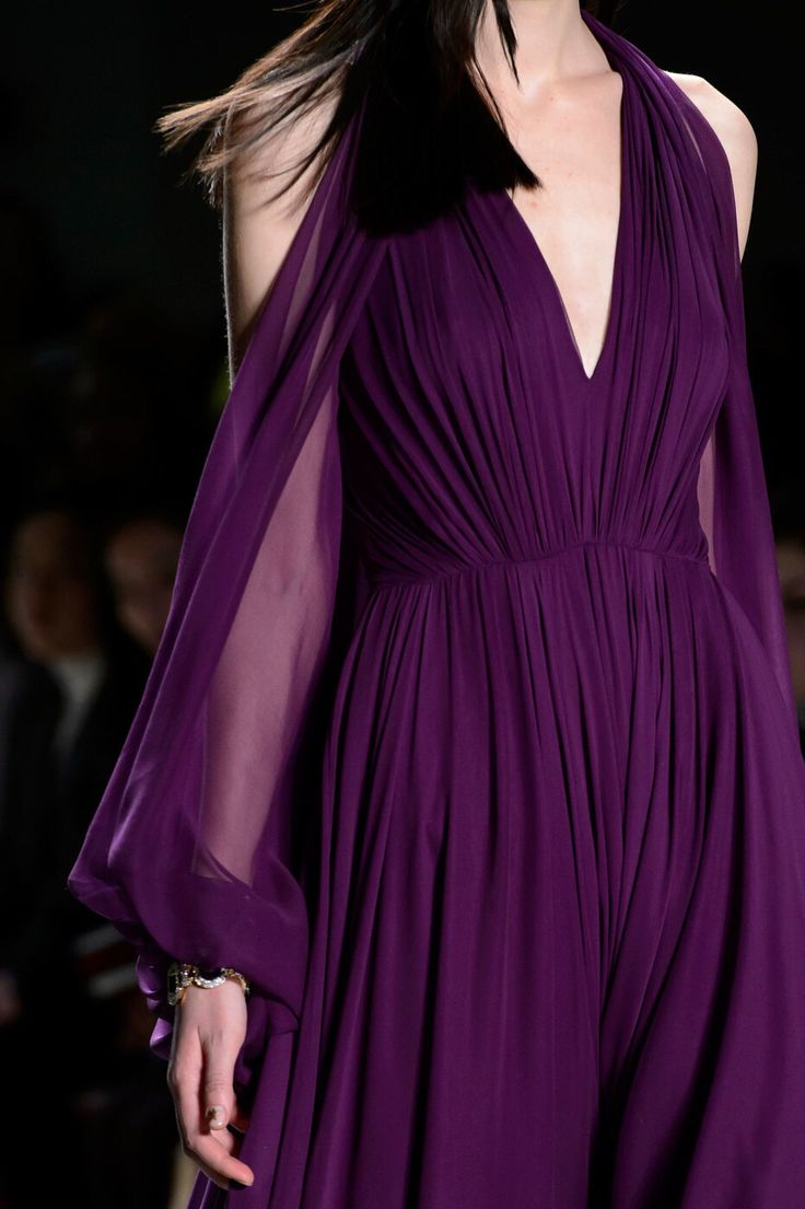 Jenny Packham Fall 2016 purple dress
