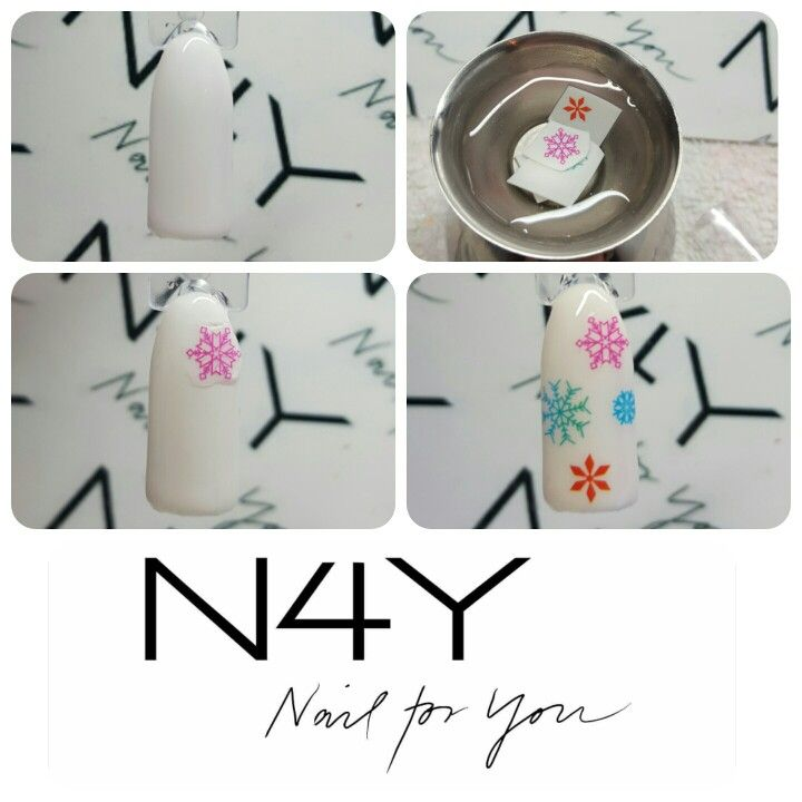 Christmas step by step tutorial snow nailart