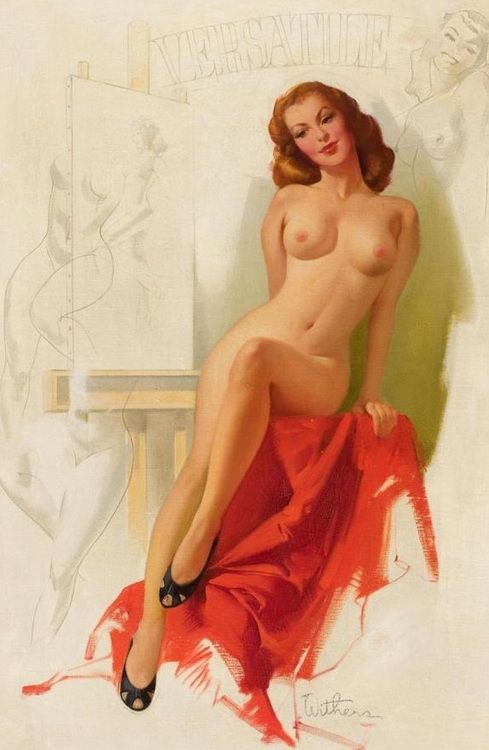 Busty vintage pin up girls nude