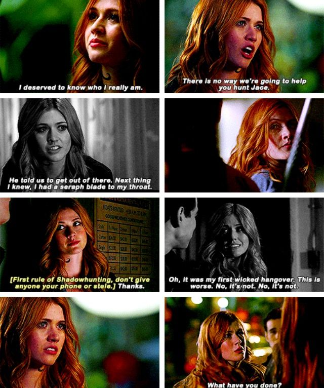 """Clary - Shadowhunters 2x01 """"The Guilty Blood"""""""