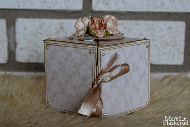 Merethe Flaskerud: Liten søt gaveboks og kort til konfirmanten