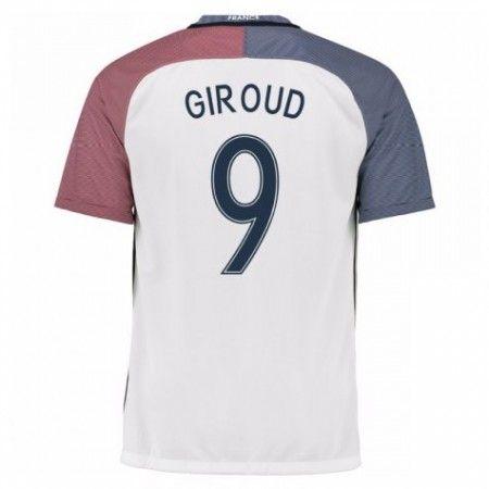 Frankrike 2016 Olivier Giroud 9 Borte Drakt Kortermet.  http://www.fotballteam.com/frankrike-2016-olivier-giroud-9-borte-drakt-kortermet.  #fotballdrakter