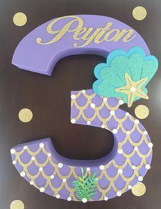 Papel maché número tres número de papel maché decoraciones