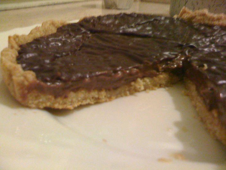 Crostata simil frolla con crema al cioccolato dieta Dukan ricetta
