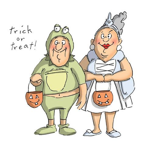 "Art Impressions Halloween Cling Rubber Stamp Set 7""X4"" - Trick or Treat"