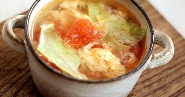 想像を超える?トマトレタス卵の3色スープ by りょーーーこ [クックパッド] 簡単おいしいみんなのレシピが260万品