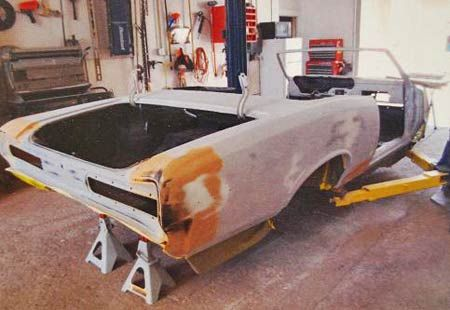 Body work on GTO takes time and talent.