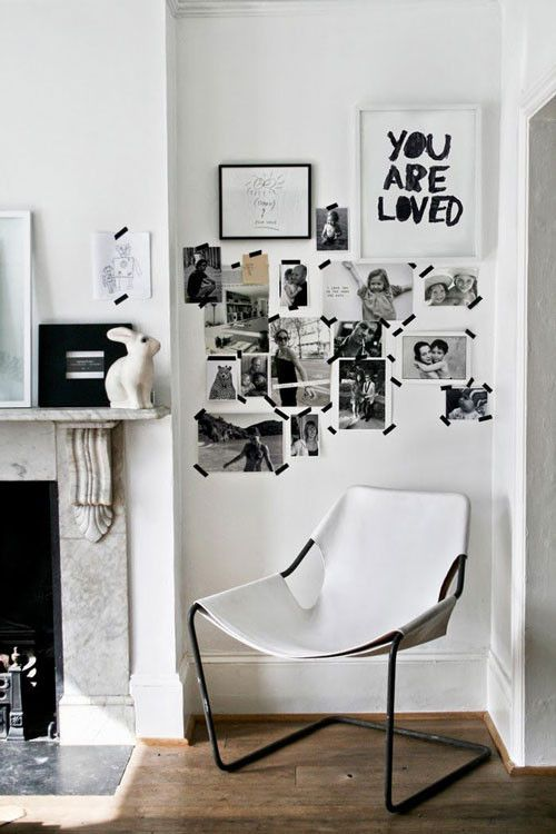 Use Tape Instead Of Nails | Rental home decor | for more ideas, click the picture or visit www.thedebrief.co.uk More