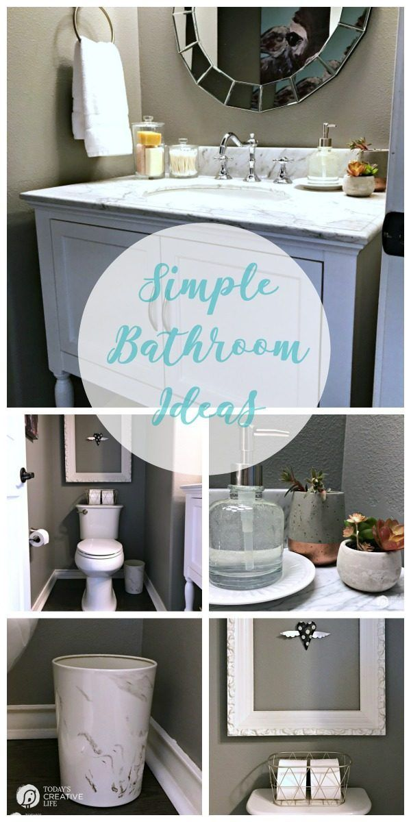 Bathroom Decorating Ideas Simple Accessories Simple Bathroom Small Bathroom Decor Bathroom Inspiration Decor