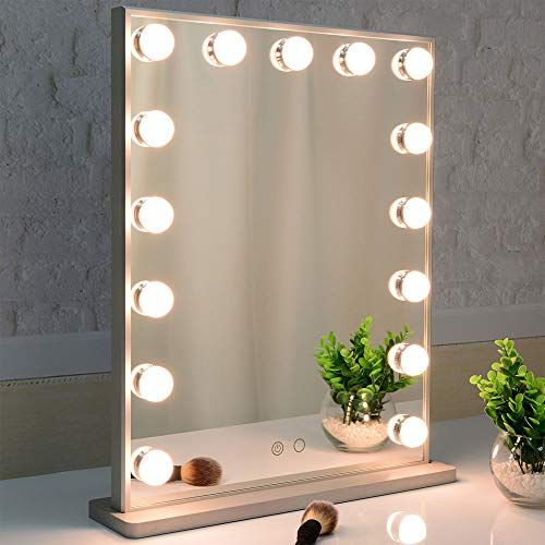 Hollywood Makeup Mirror With Lights Vanity Mirror With 15pcs