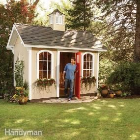 How to Build a Storage Shed - awesome tutorial shows, in detail, how to build this budget-friendly shed.  This isn't a beginner's project, but it has detailed instructions and can save you $1,000's if you DIY!  Via Family Handyman