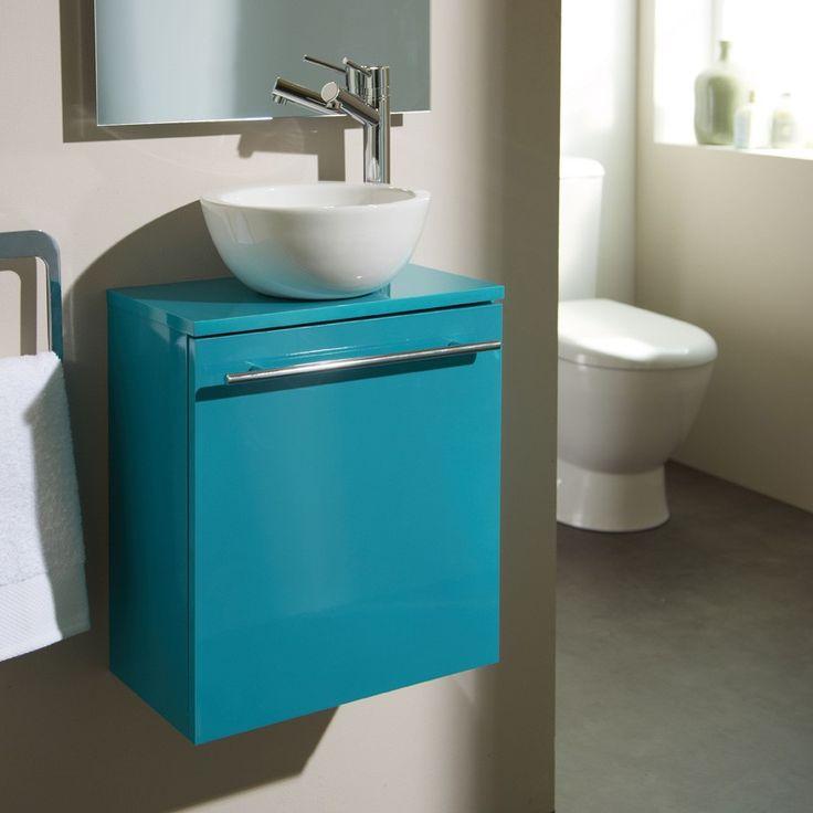 Nouveauté ! Meuble lave-mains bol bleu chlorophylle #meuble