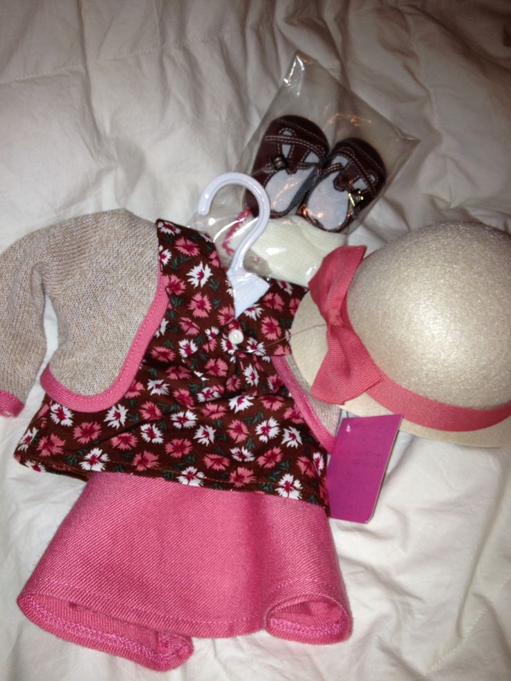 Kit's school skirt outfit with hat shoes socks blouse and sweater