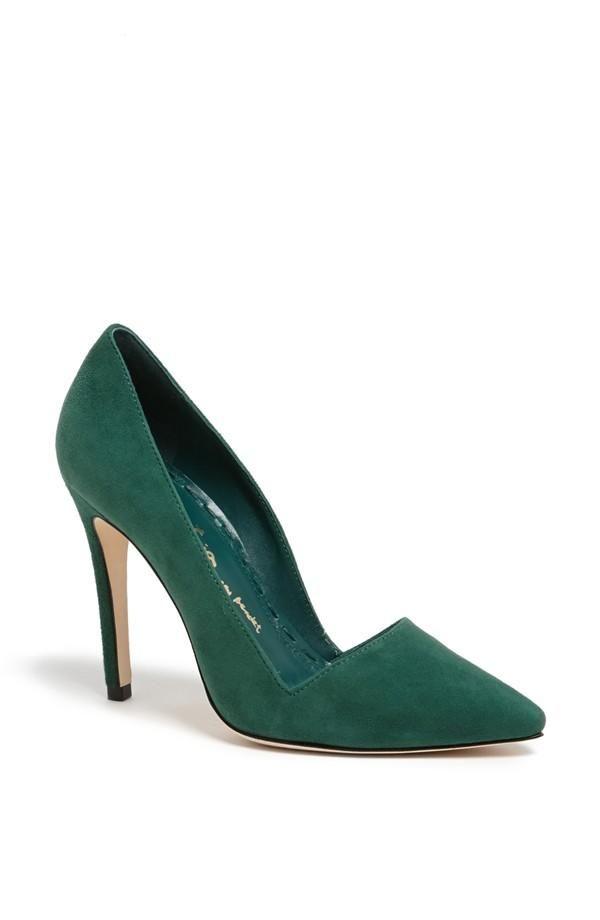 alice + olivia 'dina' suede pump