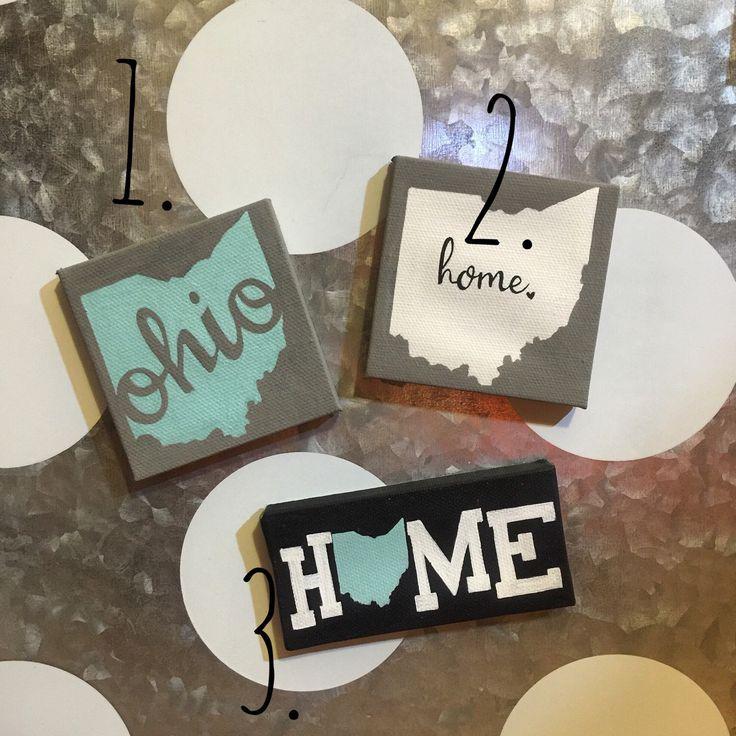 Ohio Script & Ohio state Home magnets