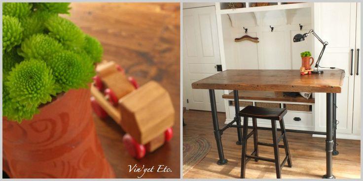 Industrial desk Collage | Vin'yet Etc.