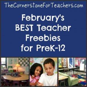 February's best teacher freebies for PreK-12 -